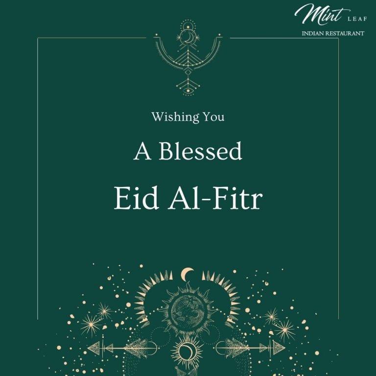 Virtual Canvas - Blue and Brown Eid Al Fitr Greeting Instagram Post